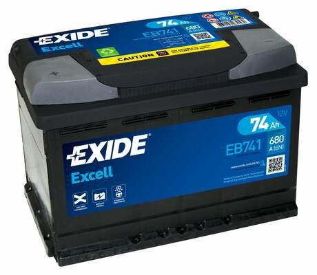 EXIDE EXIDE baterie 12V 74Ah, 680A, EXCELL +L EB741