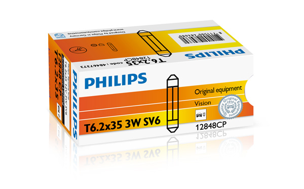 PHILIPS ZIAROVKA 12V 3W SV6 T6 PHILIPS 12848CP